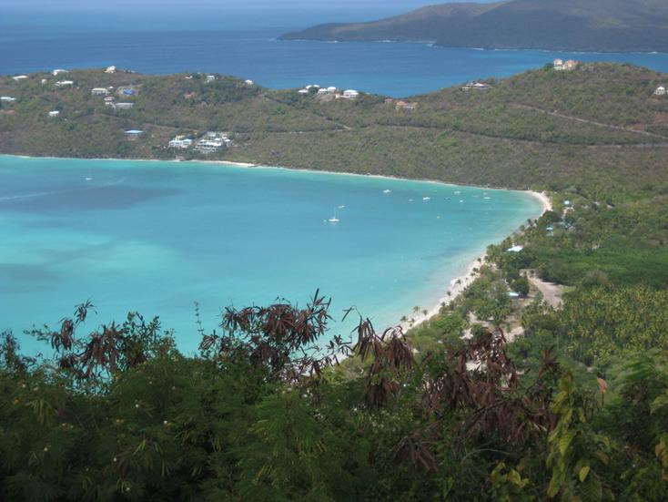 View of Magens Bay Beach