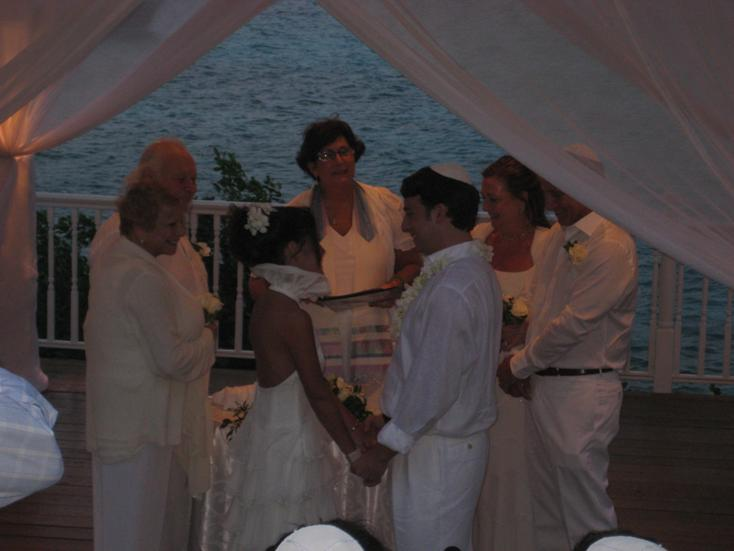 Oppenheimer wedding-exchanging vows