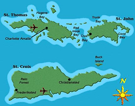 Map of the U.S. Virgin Islands
