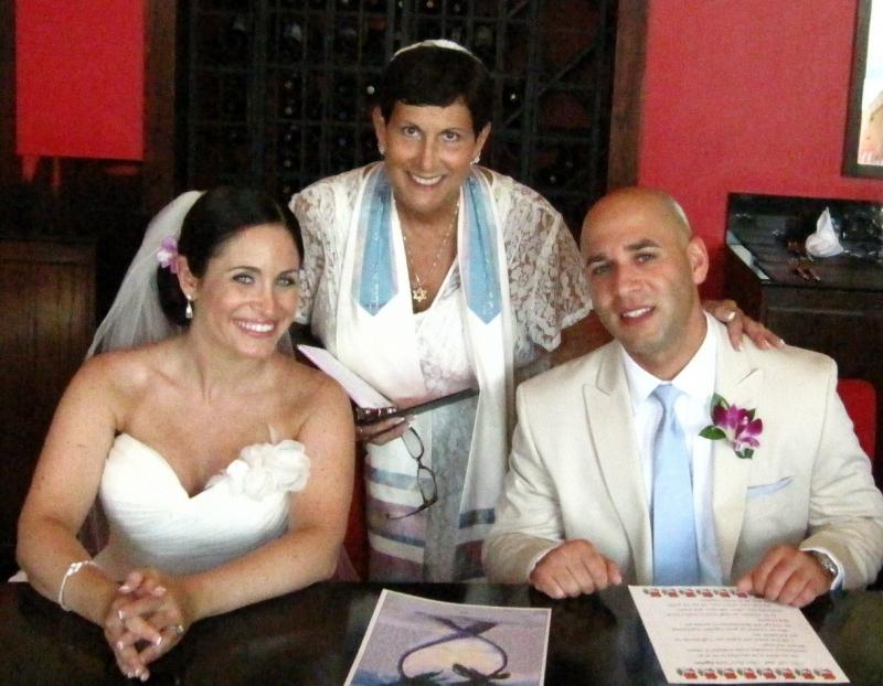 Ketubah signing ceremony with Nicole and Michael